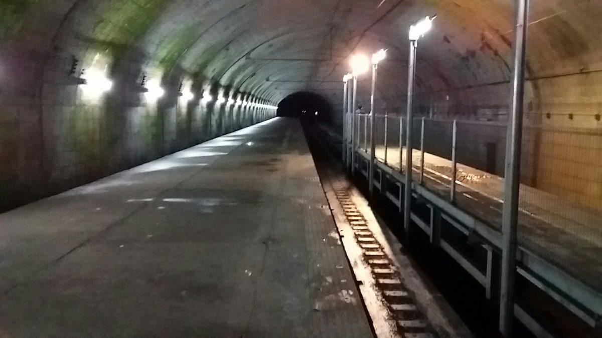 もぐら駅。土合駅